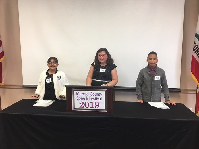 Three of our speech contest participants